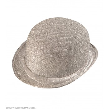 Felt Bowler Silver Lame - Fancy Dress