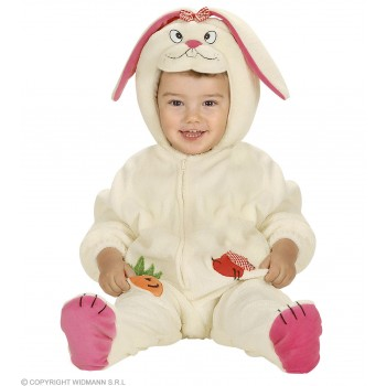 Bunny Costume Kids Jumpsuit W/Headpiece Costume Age 1-2 (Animals)