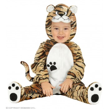 Tiger Costume Kids Jumpsuit W/Headpiece Costume Age 1-2 (Animals)