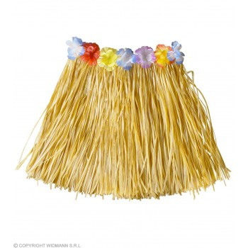 Child Hula Skirts Flower Belt Natural Color Fancy Dress