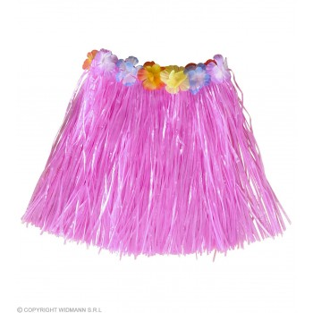 Child Hula Skirts, Flower Belt Pink Color, Fancy Dress