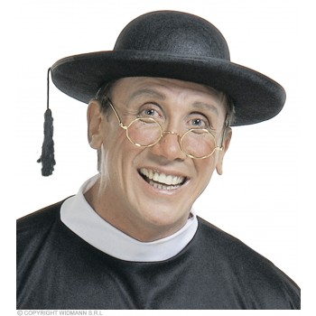 Priest Hat Felt W/Rim - Fancy Dress (Vicars/Nuns)