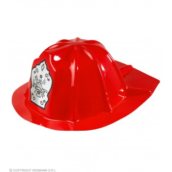 Child Size Pvc Fireman Hat Red - Fancy Dress Boys (Fire Service)