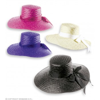 Mayfair Lady Straw Hat - Fancy Dress