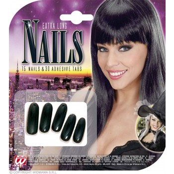 Extra Long Black Nails - Fancy Dress (Halloween)