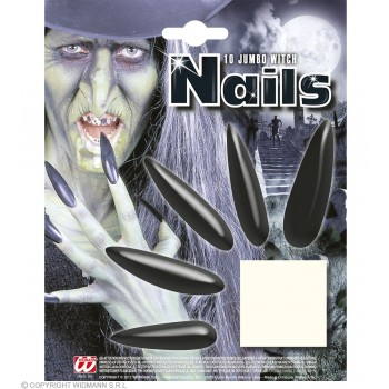 Jumbo Witch Nails - Fancy Dress (Halloween)