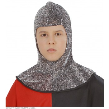 Medieval Warrior Hood Metallic Child Size - Fancy Dress