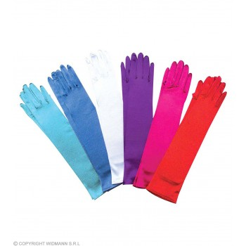 Spandex Satin Gloves Coloured - Fancy Dress