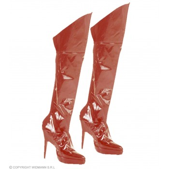 Boot Covers Red - Fancy Dress