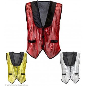 Sequin Waistcoat 3 Colours - Fancy Dress