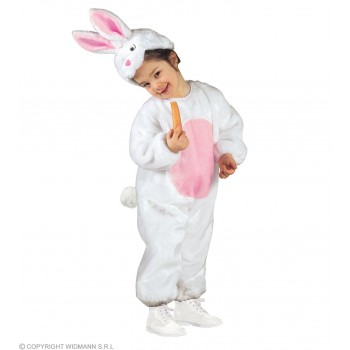 Plush Bunny Jumpsuit & Headpiece Kids Age 3-4 (Animals)