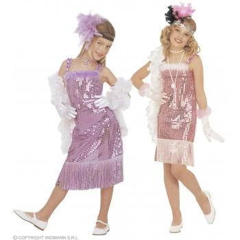 Glamour Marilyn Light Pink/Purple Asstd Fancy Dress (1920S)