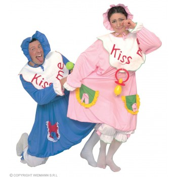 Baby Blue/Pink With Dress W/Bib, Pantaloons Costume
