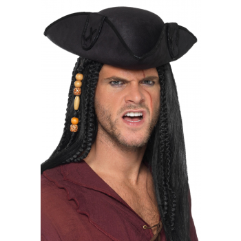 Tricorn Pirate Captain Hat Fancy Dress (Adult Size)