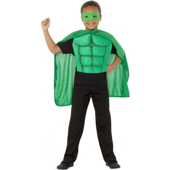 Kids Superhero Kit Green Sci-Fi Fancy Dress