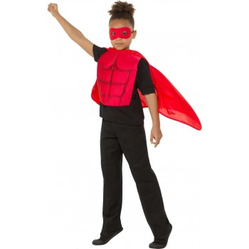 Kids Superhero Kit Red Sci-Fi Fancy Dress
