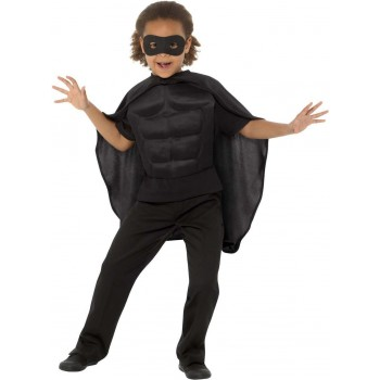 Kids Superhero Kit Black Sci-Fi Fancy Dress