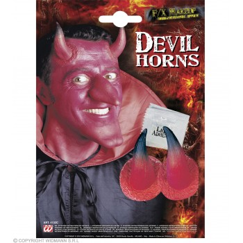 Devil Horns With Adhesive Red - Fancy Dress (Halloween)
