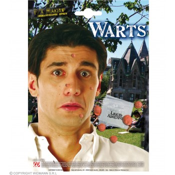 Warts With Adhesive - Fancy Dress