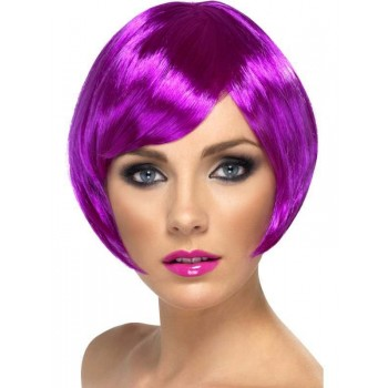 Babe Wig Purple - Fancy Dress Ladies (Film , Hen & Stag , Heroes , Tv)