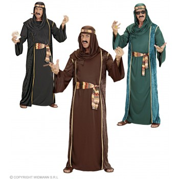Xxl Arab Sheik 3 Cols Fancy Dress Costume (Egyptian)