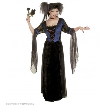 Xxl Gothic Princess Velvet Dress & Veil Costume (Royalty)