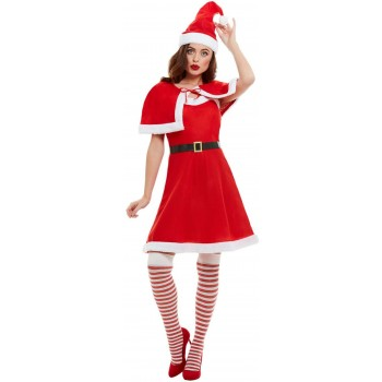 Miss Santa Fancy Dress Costume Christmas