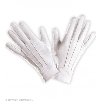 Gloves Short White - Fancy Dress (Christmas)
