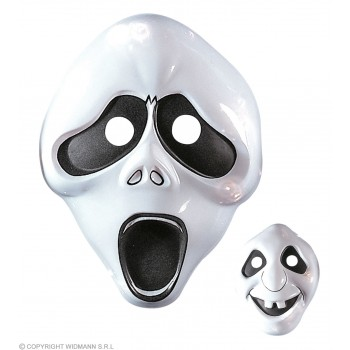 Child Plastic Ghost Mask 2 Styles - Fancy Dress (Halloween)