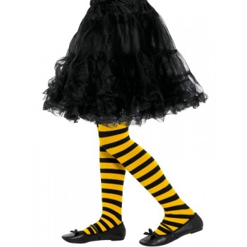 Bee Stripe Tights, Childs Fancy Dress Accessory
