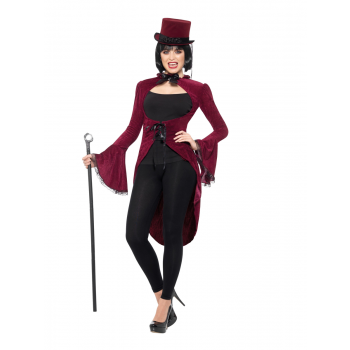 Lady Vampire Jacket Halloween Fancy Dress