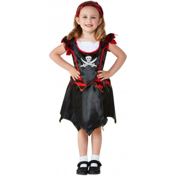 Toddler Pirate Skull & Crossbones Fancy Dress Costume