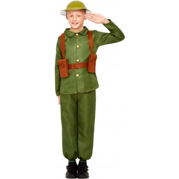 WW1 Soldier Fancy Dress Costume 1920s