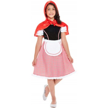 Deluxe Red Riding Hood Fancy Dress Costume Book Day