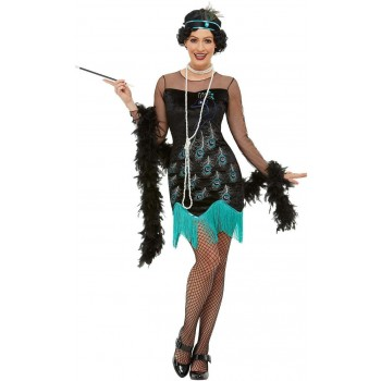 20s Peacock Flapper Fancy Dress Costume 1920s