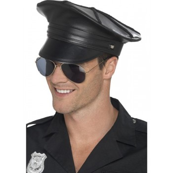 Deluxe Police Hat Fancy Dress Accessory