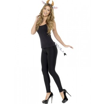 Adult Cow Fancy Dress Accessory Kit