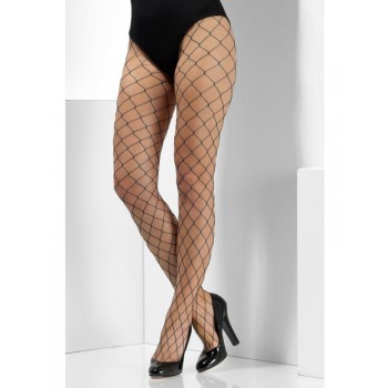 Diamond Net Fancy Dress Tights - Green