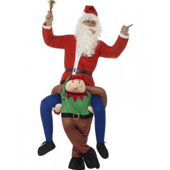 Piggyback Elf Fancy Dress Costume