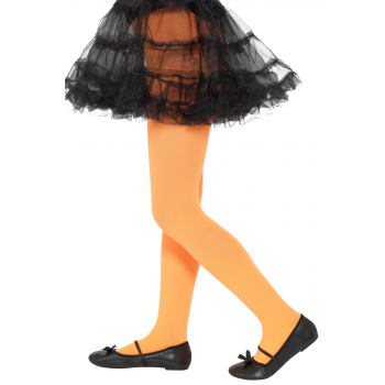 Opaque Orange Tights Halloween Fancy Dress