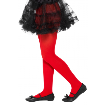 Opaque Red Tights Halloween Fancy Dress