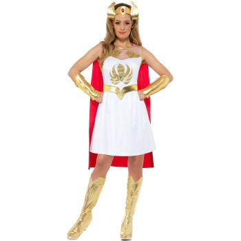 She-Ra Glitter Print Fancy Dress Costume Cartoon 1980s (Official Licensed)
