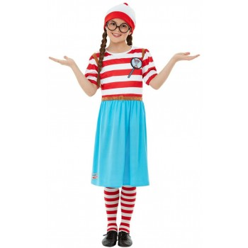 Where's Wally? Wenda Deluxe Fancy Dress Costume Book Day (Official Licensed)