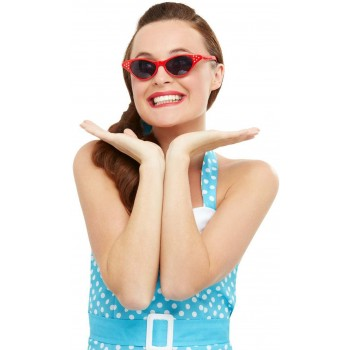 Flyaway Style Rock & Roll Sunglasses 1950s Fancy dress
