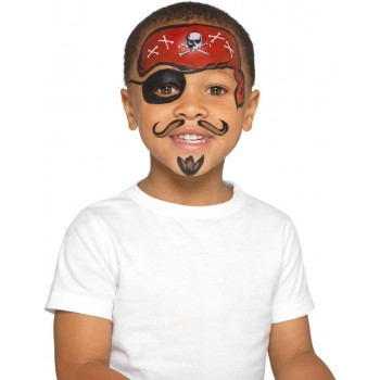 Smiffys Make-Up FX, Kids Pirate Kit Halloween