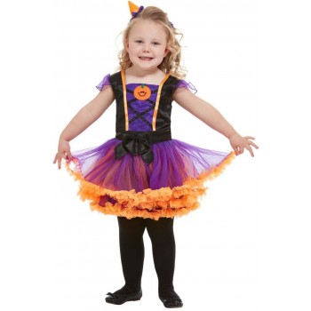 Toddler Pumpkin Witch Fancy Dress Costume Halloween