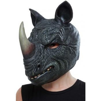 Rhino Latex Mask Animals Fancy Dress