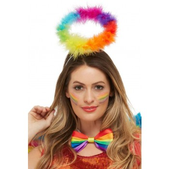Rainbow Angel Halo Novelty Pride Fancy Dress