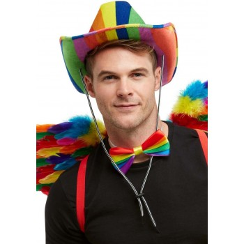 Rainbow Stetson Hat Novelty Pride Fancy Dress