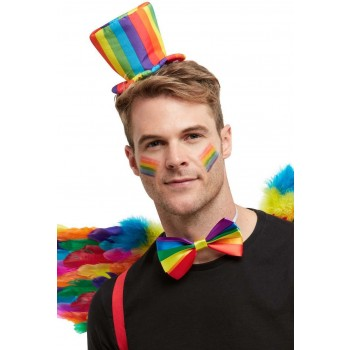 Rainbow Mini Top Hat Novelty Pride Fancy Dress